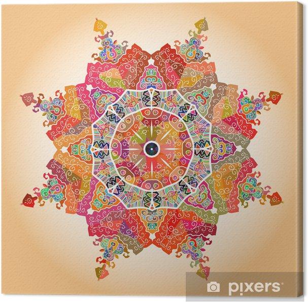 Canvas Oosterse mandala motief -