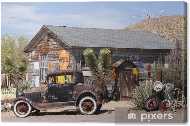 Canvas Op Route 66 - Amerika