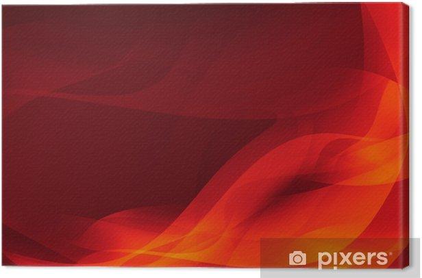 Canvas Oranje en gele achtergrond van abstracte warme curven - Achtergrond