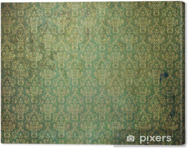 Canvas Oud Groen Behang