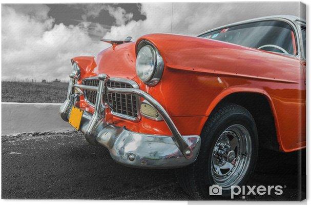 Canvas Oude Amerikaanse auto - Onderweg