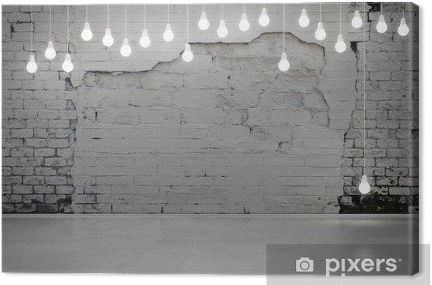 Canvas Oude bakstenen muur en bollen - Stijlen
