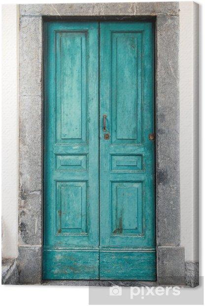 Canvas Oude blauwe deur - iStaging