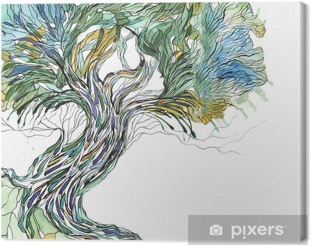 Canvas Oude boom - Wetenschap en natuur