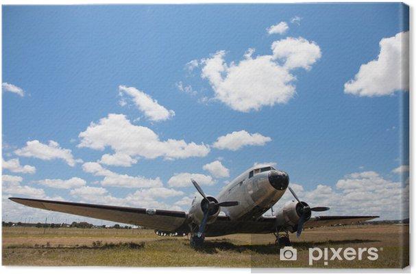 Canvas Oude Douglas DC-3 vliegtuig. - Lucht