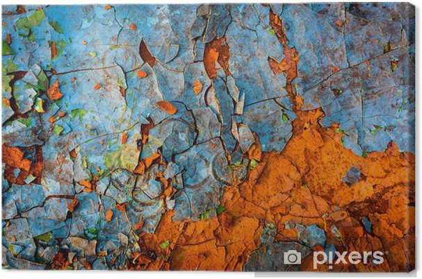Canvas Oude geschilderde muur - Grafische Bronnen