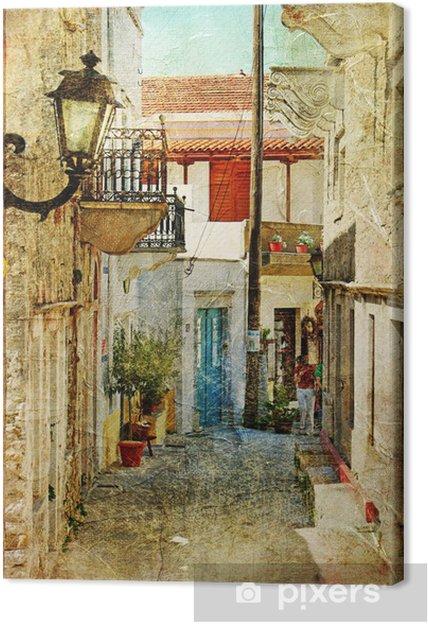 Canvas Oude Griekse straten-artistieke foto -