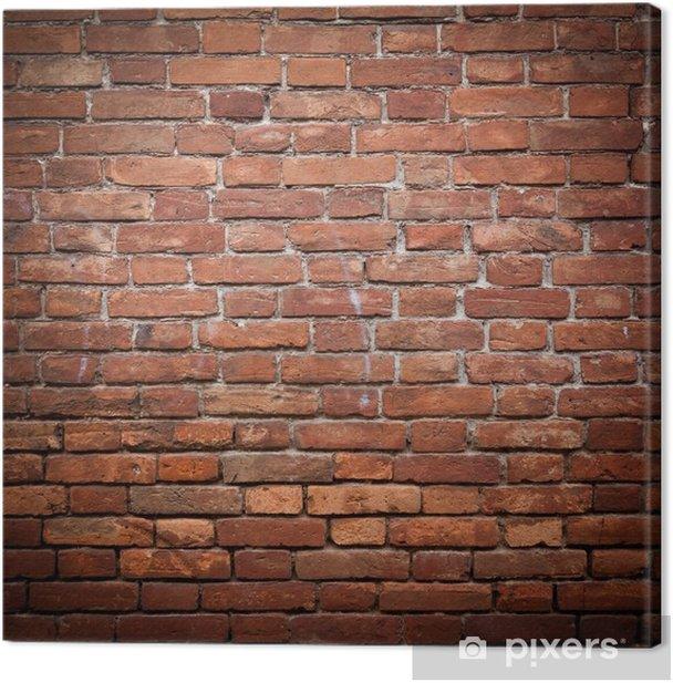 Canvas Oude grunge rode bakstenen muur textuur - Thema's
