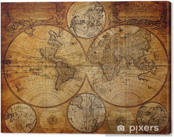 Canvas Oude kaart (1746) -