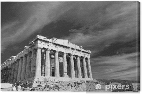 Canvas Oude Parthenon in Athene Akropolis Griekenland Zwart-wit - Thema's