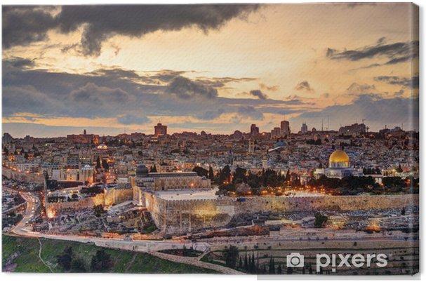 Canvas Oude Stad van Jeruzalem De Horizon - iStaging