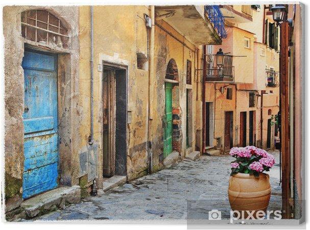 Canvas Oude straten van de Italiaanse dorpen - Thema's