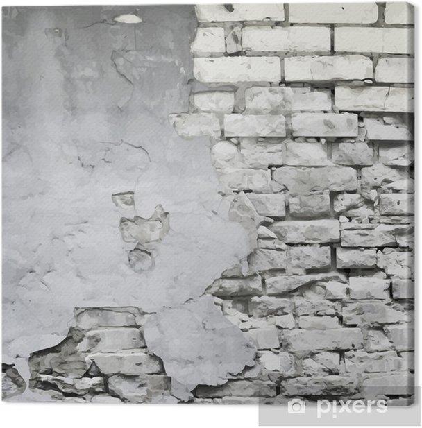 Canvas Oude vervallen muur vector achtergrond - Thema's