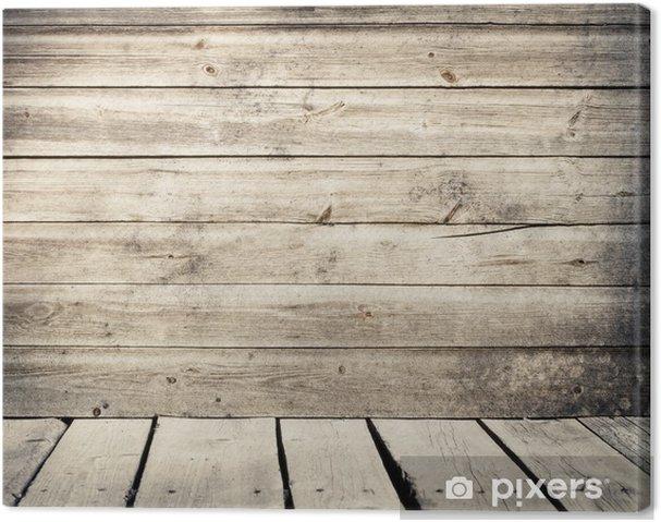 Beste Canvas Oude verweerde houten planken muur met vloer • Pixers® - We NM-58