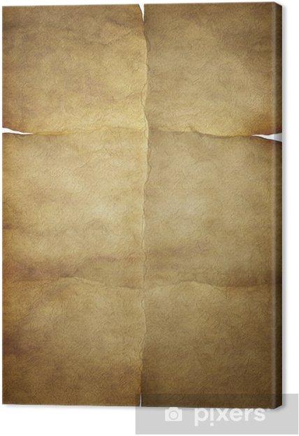 bf62fc89a25 Canvas Oude vintage papier textuur of achtergrond met sporen van vouwen