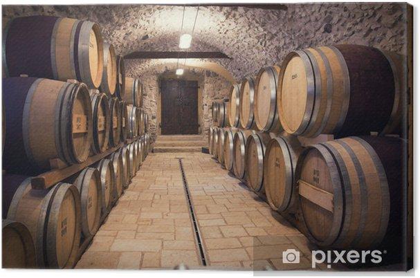 Canvas Oude wijnkelder - Stijlen