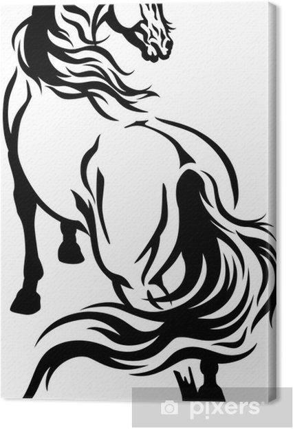 Canvas Paard Tattoo