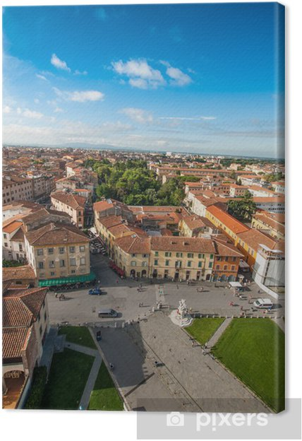 Canvas Panorama belvedere di Pisa, veduta area - Europa