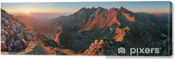 Canvas Panorama berg herfst landschap - Thema's