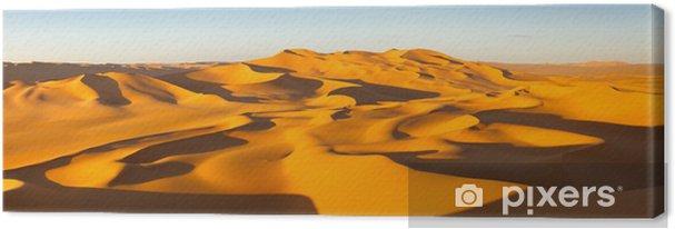 Canvas Panorama van de Woestijn - Sand Dunes - Murzuq woestijn, de Sahara, Libië - Thema's