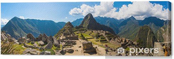 Canvas Panorama van Mysterious stad - Machu Picchu, Peru, Zuid-Amerika. - Thema's