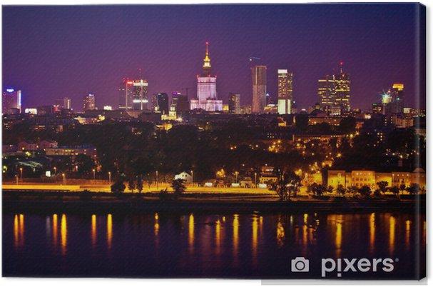 Canvas Panorama van warschau - Thema's