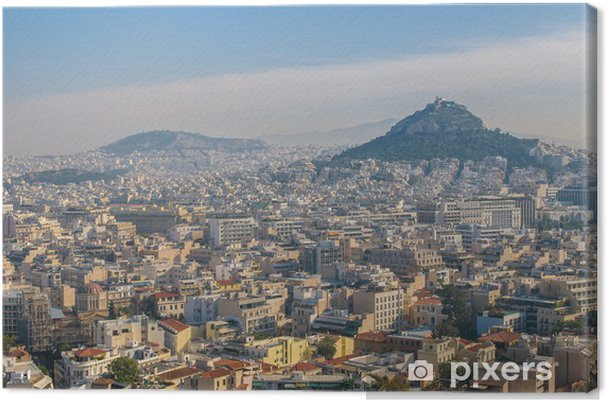 Canvas Panoramisch uitzicht over Athene, Griekenland - Thema's