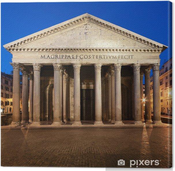 Canvas Pantheon bij nacht in Rome - Italië - Thema's
