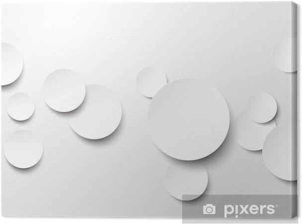 f5a19e1b128 Canvas Papier witte cirkels.