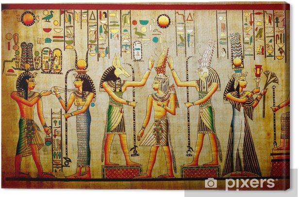 Canvas Papyrus Oude natuurlijke papier uit Egypte - iStaging