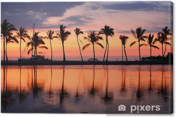 Canvas Paradise beach zonsondergang tropische palmbomen - Thema's