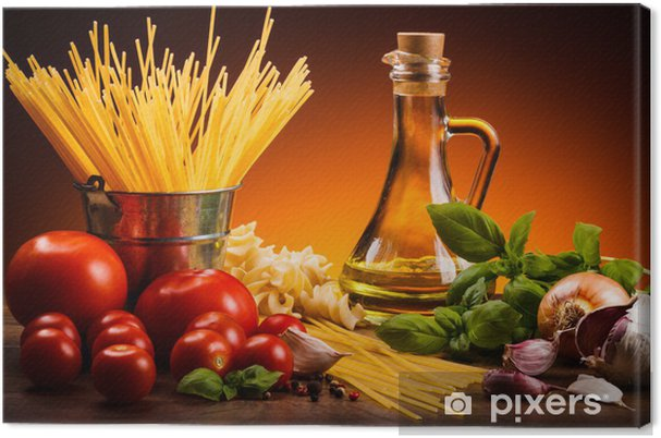 Canvas Pasta en verse groenten - Thema's