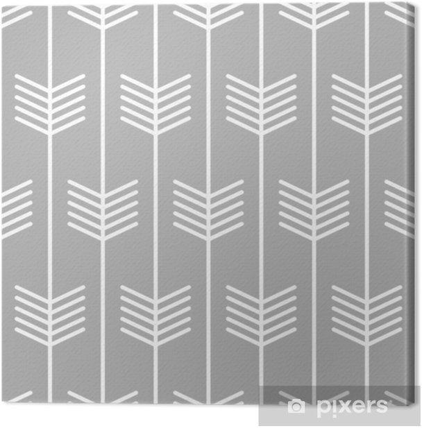 Canvas Patroon van de pijl het naadloze Skandinavische stijl. vector - Grafische Bronnen
