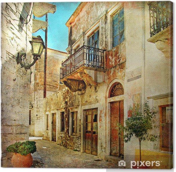 Canvas Picturale oude straten van Griekenland -