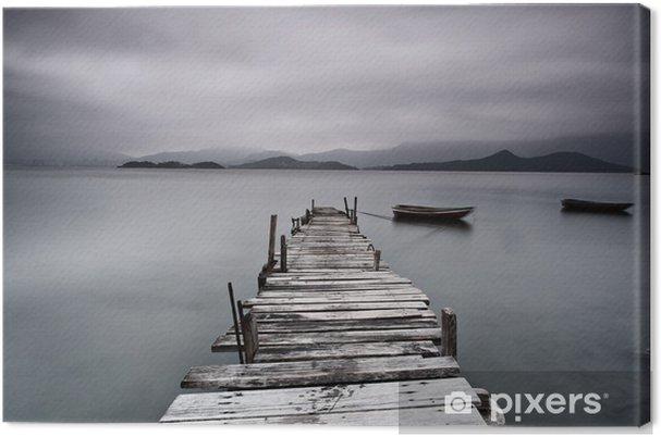 Canvas Pier en boot, lage verzadiging - Thema's