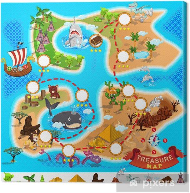 Canvas Pirate Schatkaart - Andere Andere