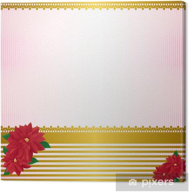 Canvas Poinsettia achtergrond - Grondstoffen