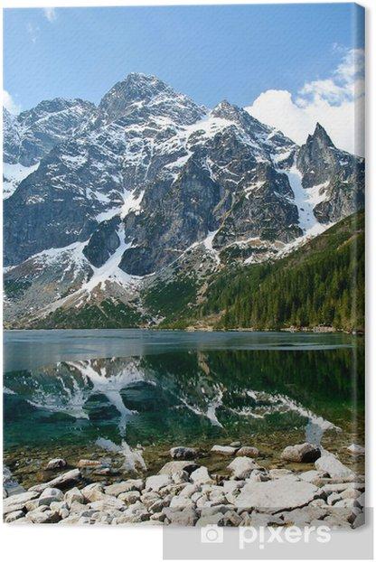 Canvas Poolse Tatra gebergte Mięguszowiecka picks - Thema's