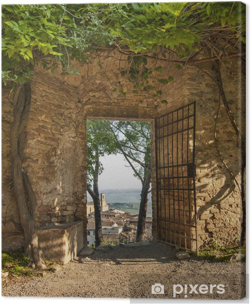 Canvas Poort In San Gimignano - Thema's