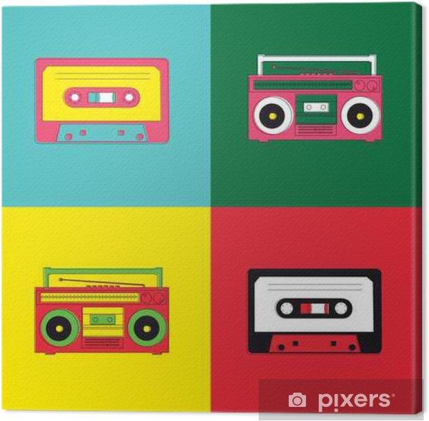 Canvas Pop Art Radio Cassette - Hiphop