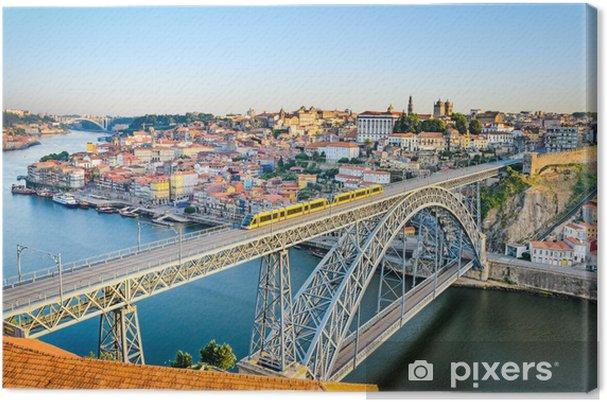 Canvas Porto met de Dom Luiz brug, Portugal - Europa