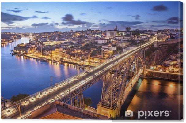 Canvas Porto, Portugal bij Dom Luis Bridge - Thema's