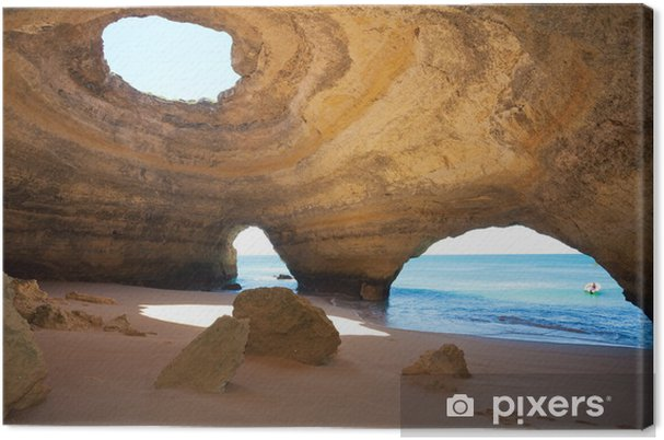 Canvas Portugal - Algarve - Benagil - Sea-Caves - Wildernis