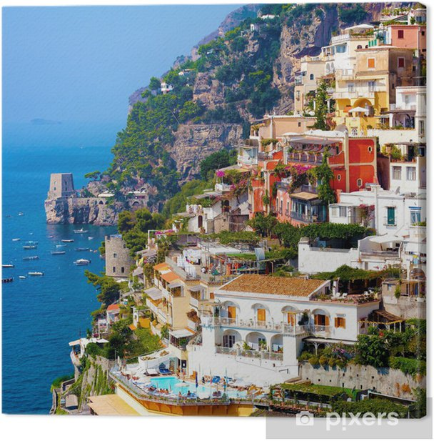 Canvas Positano, Italië. Amalfi Coast - Thema's