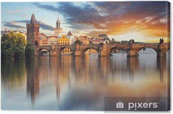 Canvas Praag - Charles bridge, Tsjechië - Praag