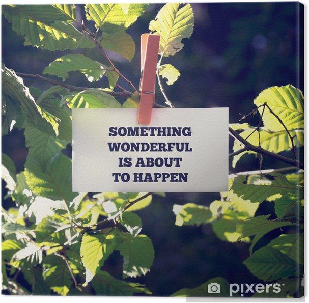 Canvas Prachtig iets staat te gebeuren - Bomen