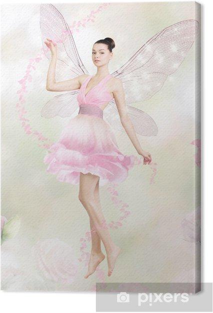 Canvas Prachtige jonge vrouw als bloem fee - Schoonheid en Lichaamsverzorging
