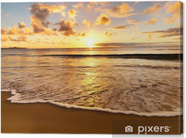 Canvas Prachtige zonsondergang op het strand - Thema's