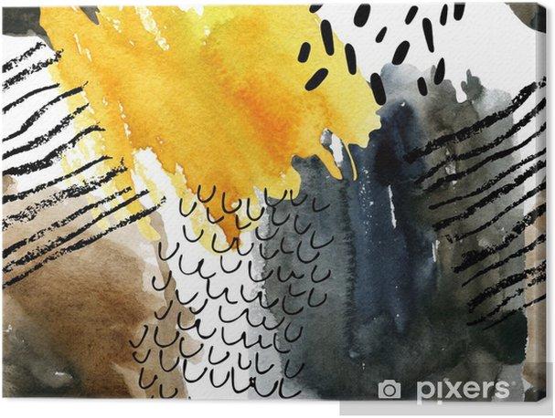 Canvas premium Abstract aquarel naadloos patroon in de herfst kleuren. - Industrieel