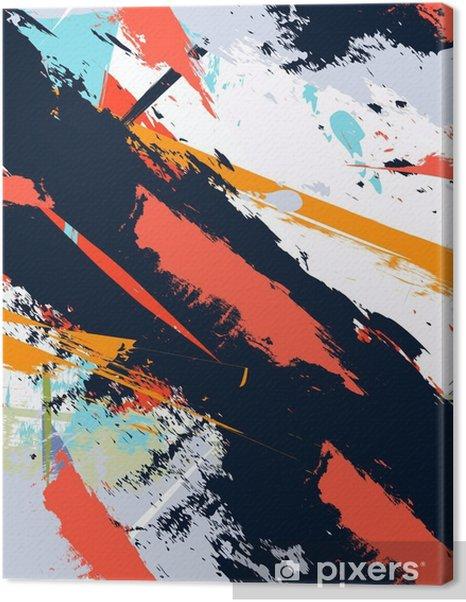 Canvas premium Abstracte kunst grunge verontruste naadloos patroon - Hobby's en Vrije tijd